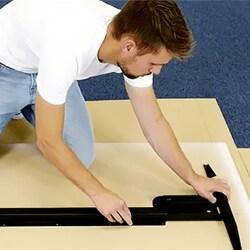 Snelle, gemakkelijke en intuïtieve montage van bureaus