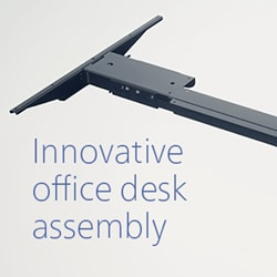 Innovatieve bureaumontage met Kick & Click