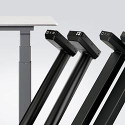 Vi introducerer DL IC – ni nye løftesøjlesystemer til kontorborde i den lave prisende