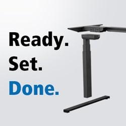 Rahmen Beine Kufen LINAK stellt komplette Desk Frame-Lösung für Bürotische vor