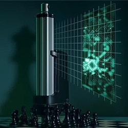 Siłowniki IC™ ze zintegrowanym sterownikiem na szachownicy.