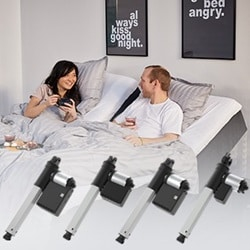 The LA18 IC single actuators support bed manufacturers and their need for extra power