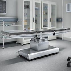 Multiple benefits using electric adjustment of operating tables