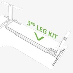 Nowe rozwiązanie do budowy biurek z trzema kolumnami na bazie systemu Kick & Click