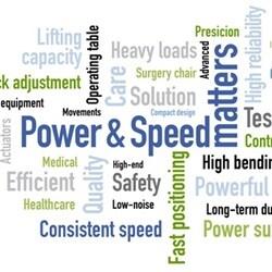 Moc i prędkość dla zapewnienia wydajnej regulacji ruchu w sprzęcie szpitalnym