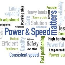 Løftekraft og hastighed sikrer effektiv justering af hospitalsudstyr