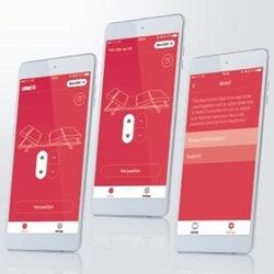Bed Control App에 기업 아이덴티티 (Corporate Identity) 부각