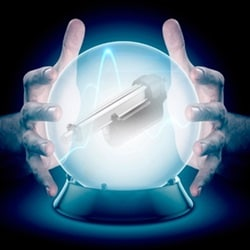 Crystal ball with LINAK actuator inside