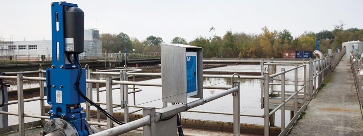 Wastewater treatment plant saves energy using linear electric actuators