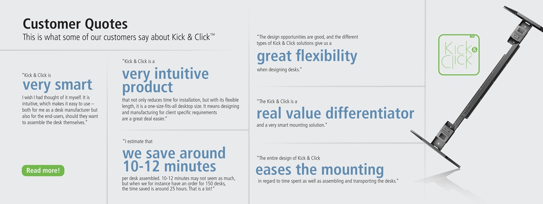 Ce que nos clients disent du Kick & Click