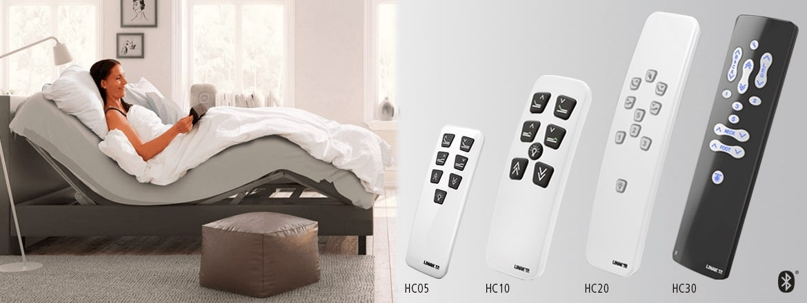 A wider variety of wireless hand controls for LINAK comfort beds