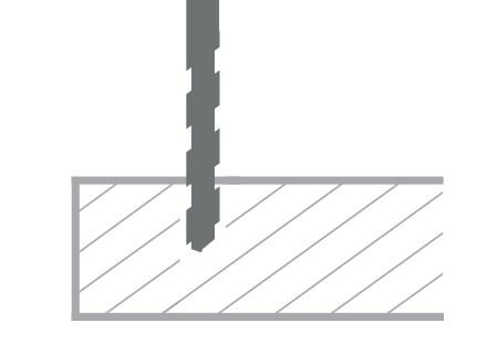 Instalación con pre-taladro de DPG