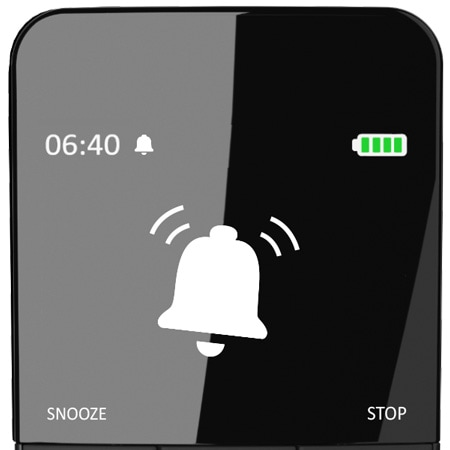 Der stille Wecker der HC40 Advanced nutzt die Massagemotoren, um den Benutzer sanft zu wecken.