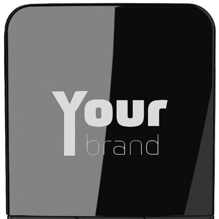 Plaats een logo van uw keuze in het display van de HC40
