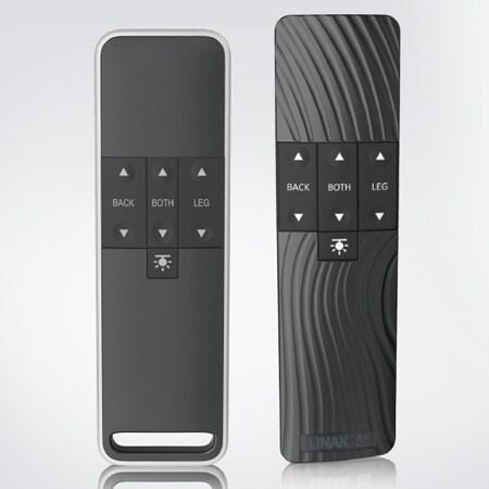 Standardausführungen der HC40 FRAME™ und HC40 TWIST™ Handbedienungen für Komfortbetten.