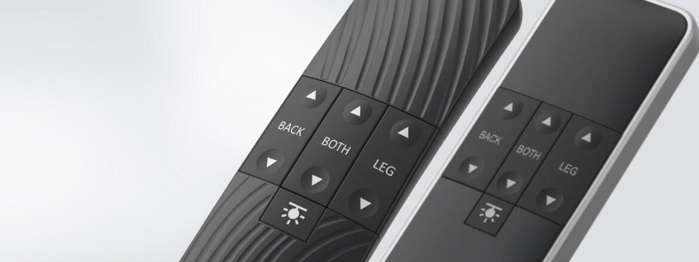 Standard versioner av handkontroll HC40 för komfortsängar