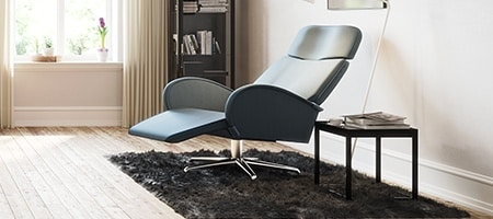 Recliner in a room