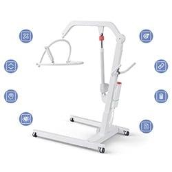Sollevatore di pazienti con icone e prodotti LINAK