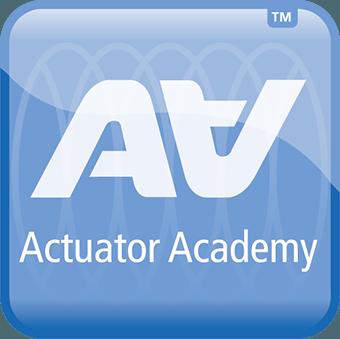 Logotipo de la Actuator Academy de LINAK