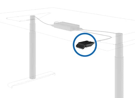 DESKLINE-inline-nostopilarijärjestelmä DPG1C