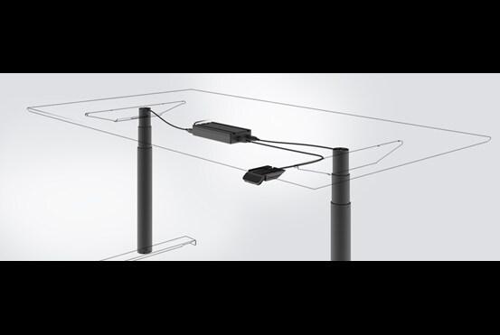 直線升降桌推桿系統
