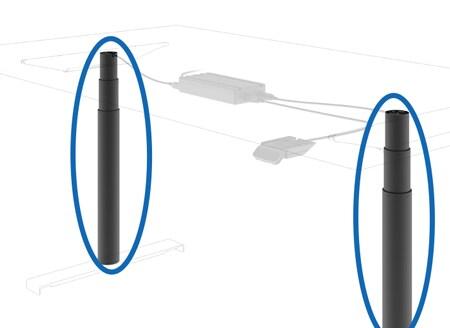 DESKINEインライン型電動昇降装置システム