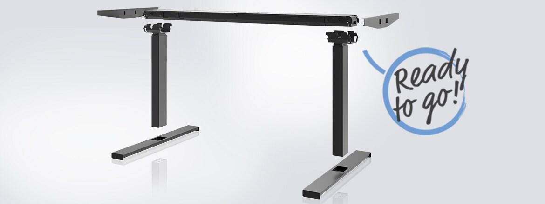 Desk Frame 2 es la solución de marco intuitiva de LINAK® para escritorios de oficina