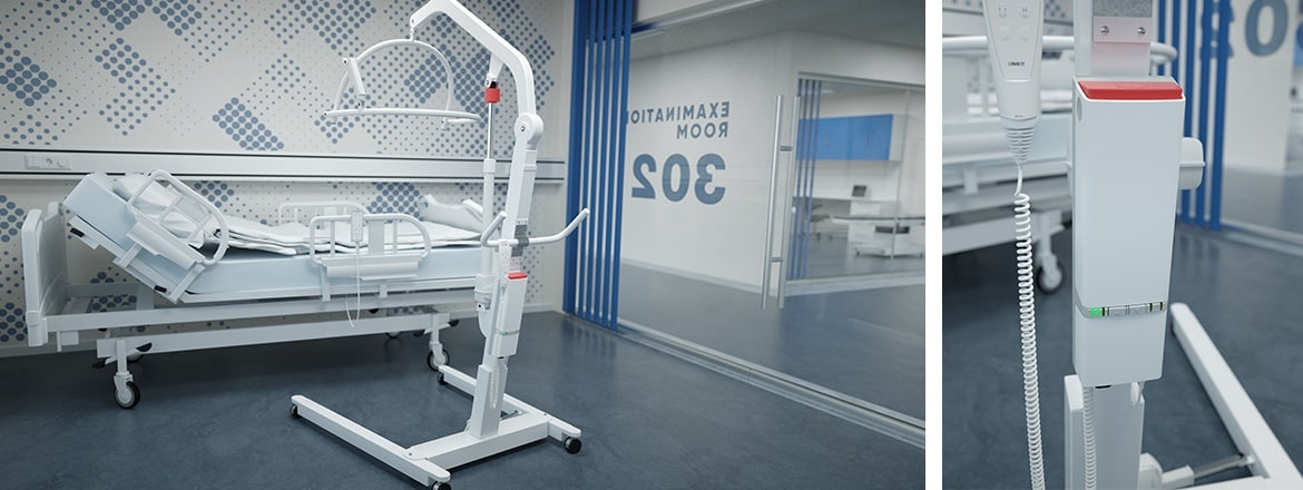 Advanced, medium or basic actuator systems for patient lifts