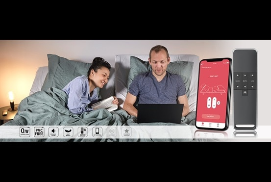 Systèmes de vérins standard pour mobilier domestique: Moteur double LINAK® TWINDRIVE™ Standard, télécommande et application.