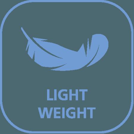 Geringes Gewicht