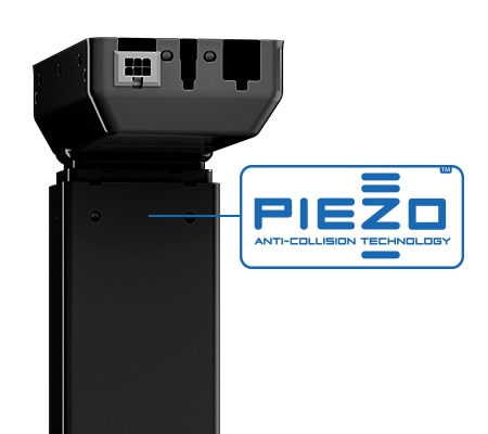 PIEZO is a Anti-Collision sensor for desks placed inside a DL lifting column