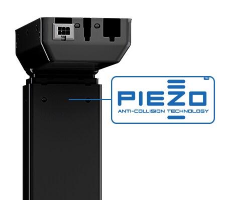 PIEZO ˜– датчик для защиты стола от столкновений, помещённый в подъёмную колонну DL.