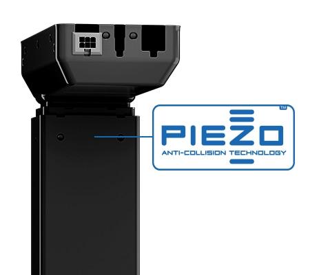 PIEZO is een botsbeveiligingssensor voor bureaus geïnstalleerd in een DL hefkolom
