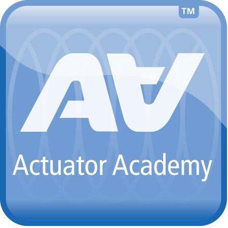 Logo Actuator Academy sobre tecnologia de atuadores