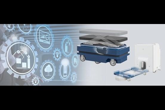 自動導引車 (AGV) 用於原料的自動化運送