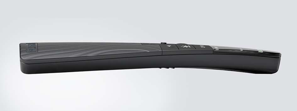 Изогнутая форма пульта HC40 TWIST™ Advanced, вид сбоку.