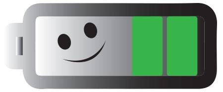 Alternativtext: Damit Ihre Batterieanzeige bei der HC40 Advanced länger grünes Licht zeigt