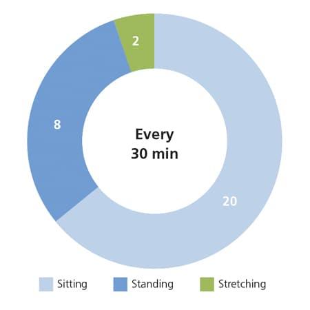 Wie Büroangestellte aktiv und gesund bleiben