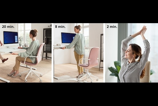Leitfaden zum Arbeiten im Sitzen und Stehen Technik und Trends