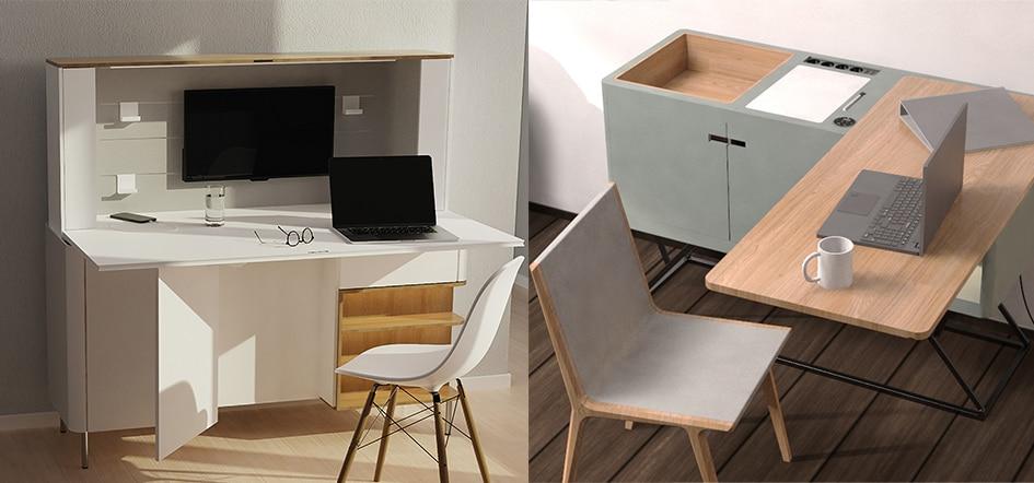 Twee verstelbare bureauconcepten van Design Meets Movement.