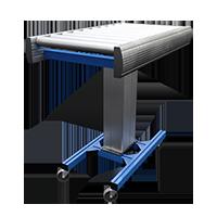 Height adjustable conveyor belt