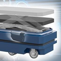 Selvkørende bil med lastdæk til materialehåndtering