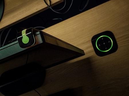 LINAK desk with green lights