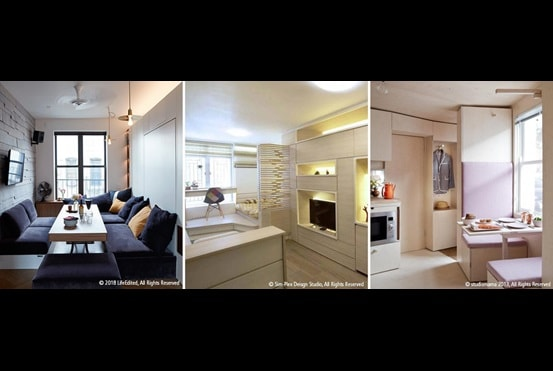 Collection tendances micro-appartements
