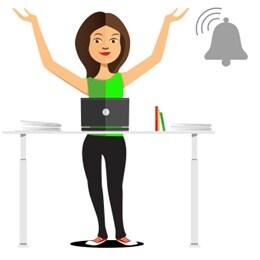 Dokument bílé knihy: Připomínání pomáhá kancelářským pracovníkům lépe využívat stoly pro sezení/stání