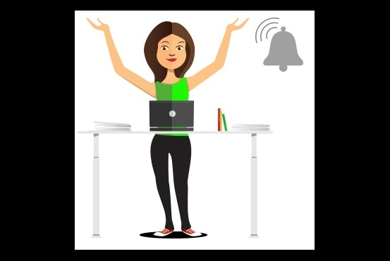 White paper: Reminders help office workers use sit-stand desks