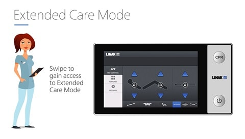 LINAK® Attendant Control Touch (ACT) – easy adjustment of hospital beds