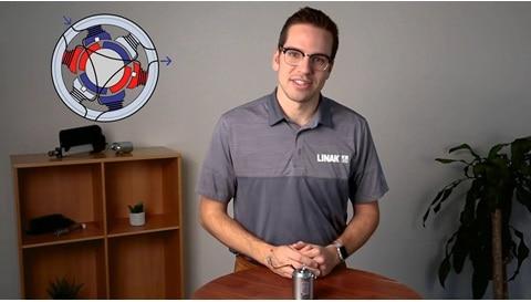 Hunter Stephenson presenting LINAK brushless DC motors