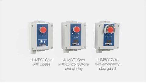 LINAK Cajas de control y baterías para grúas de paciente