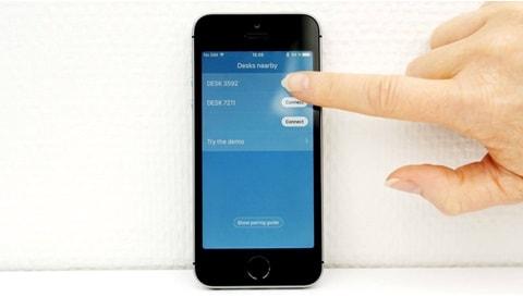 데스크 패널 DPG1M - App (앱)과 페어링하는 방법